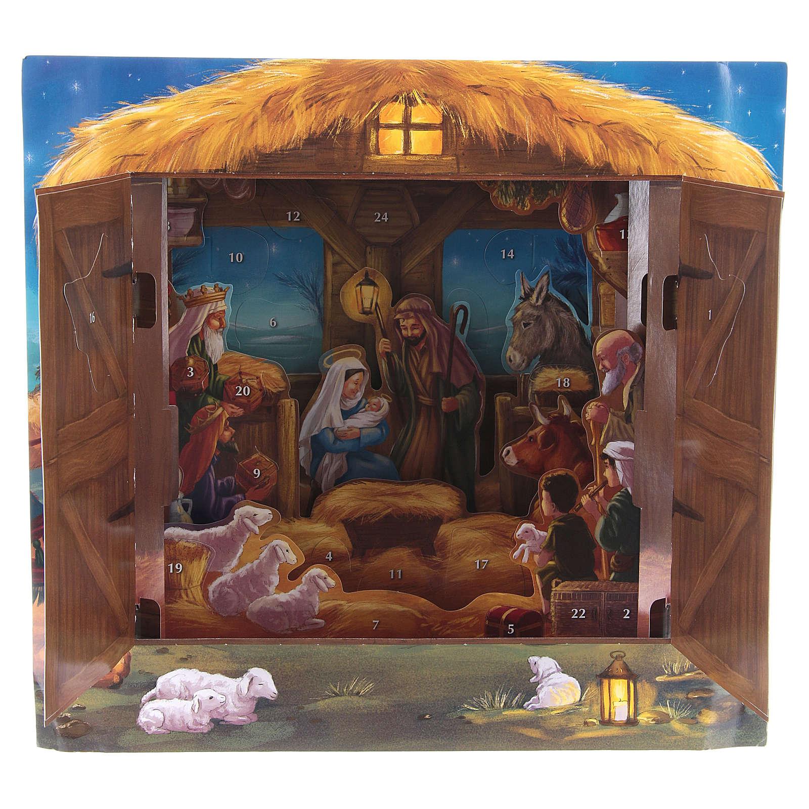 Calendrier de l'Avent tridimensionnel Nativité de Bethléem 3