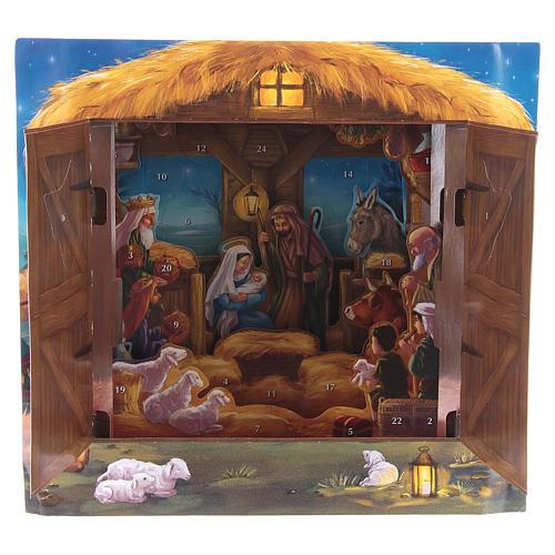 Calendrier de l'Avent tridimensionnel Nativité de Bethléem 2