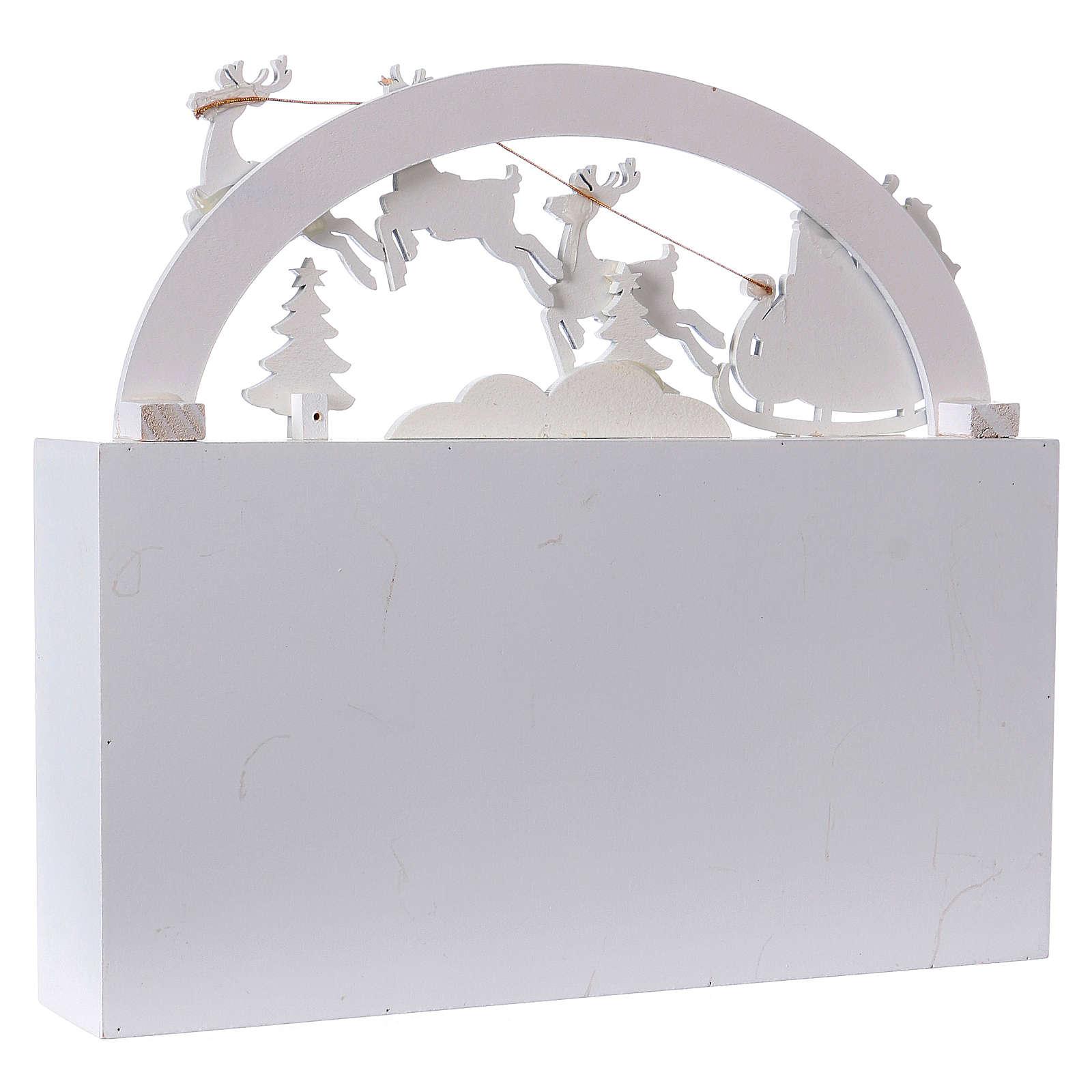 Calendrier de l'Avent bois paysage 30x30x8 cm 3