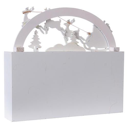 Calendario dell'Avvento 30 cm legno paesaggio 30x30x8 6