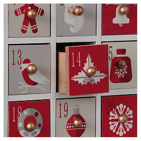 Advent calendar in wood with Christmas 30 cm s2