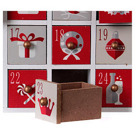 Advent calendar in wood with Christmas 30 cm s5