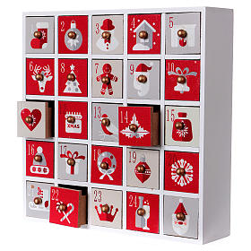 Calendario de Adviento 30 cm madera imagen Navidad s3