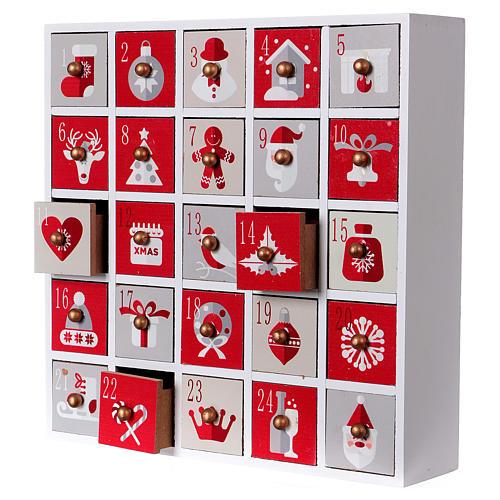 Calendario de Adviento 30 cm madera imagen Navidad 3