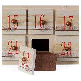 Advent calendar in wood with landscape 48 cm s5