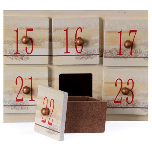 Calendário do Advento 48 cm com paisagem 5