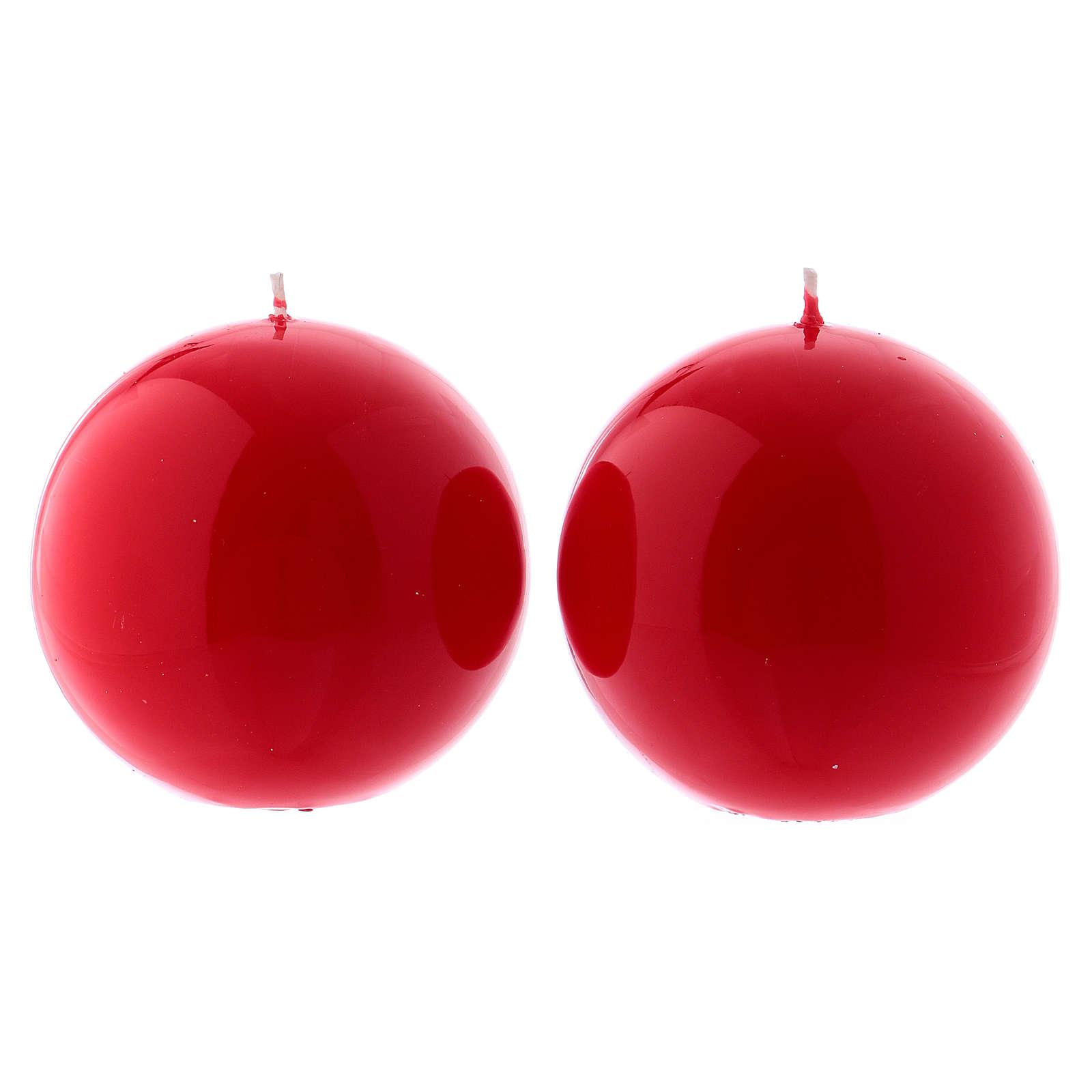 Velas Adviento 10 cm 4 esferas lúcidas 3