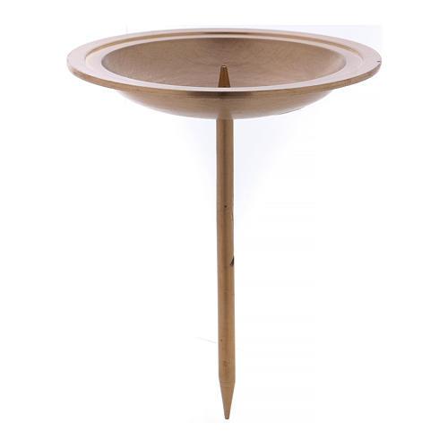 Soporte vela para corona de Adviento de latón dorado 4 piezas 1