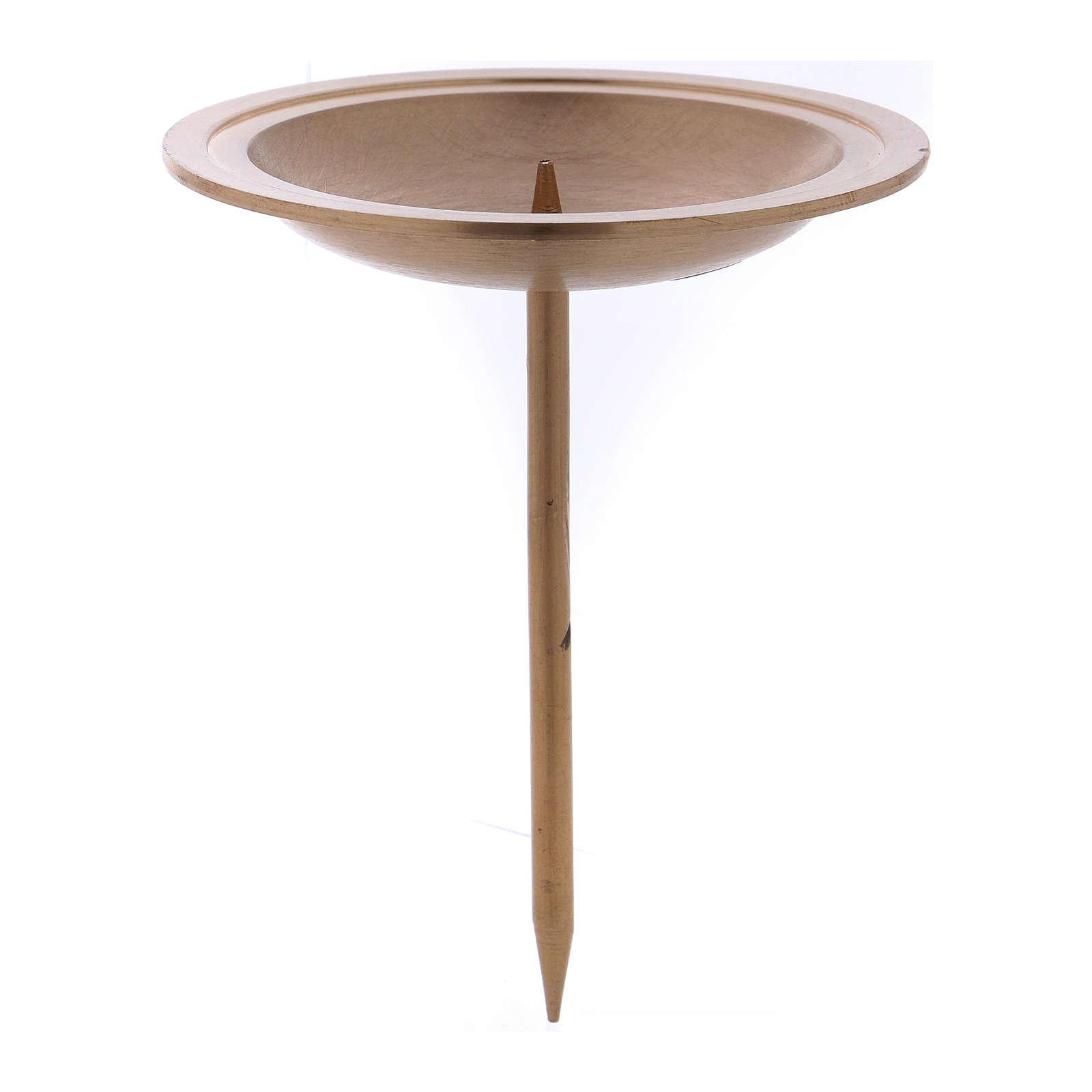 Supporto candela per corona dell'Avvento in ottone dorato 4 pz 3