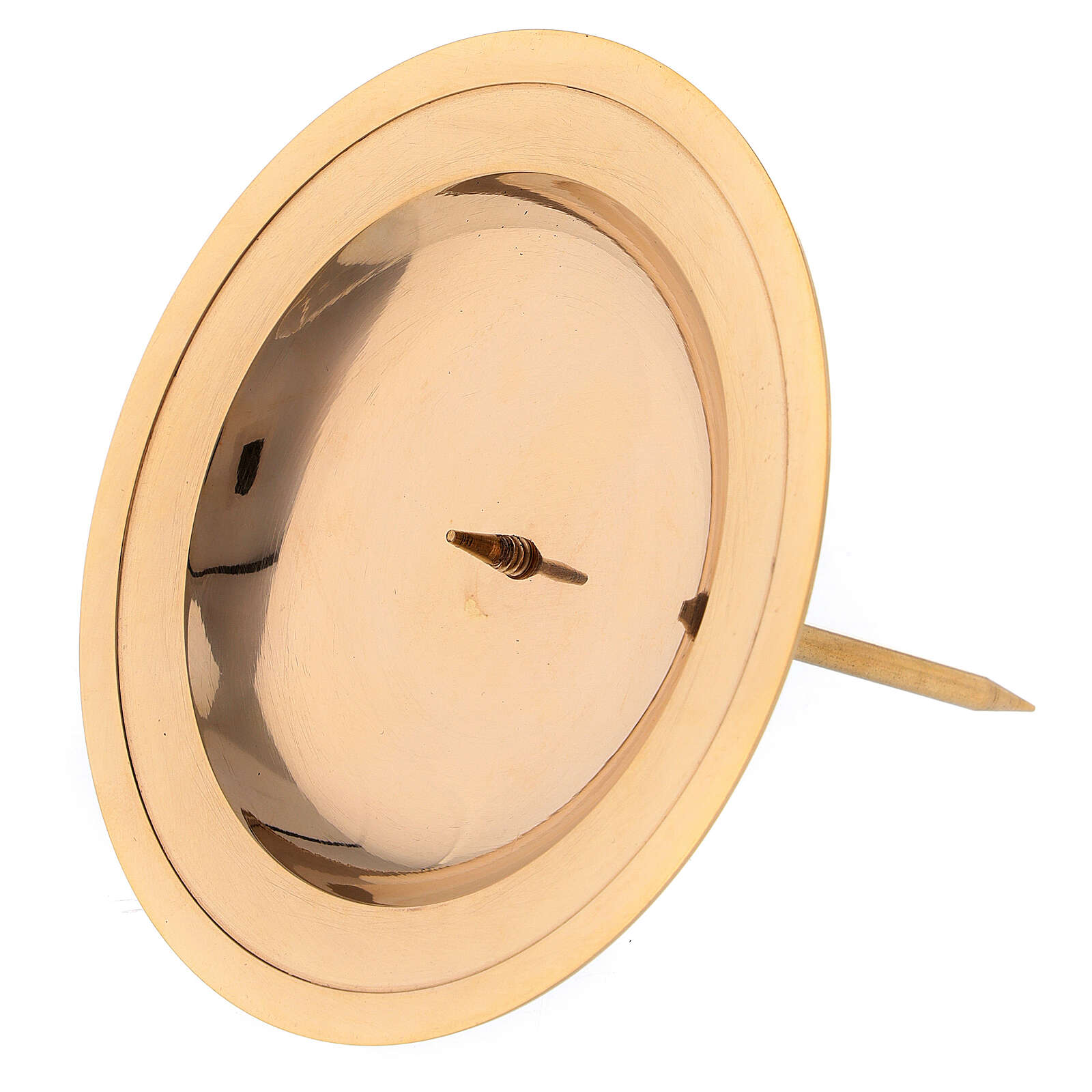 Base vela de latón dorado lúcido para corona de Adviento 7 cm 3