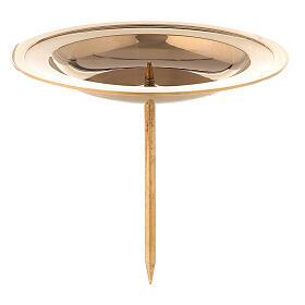 Base vela de latón dorado lúcido para corona de Adviento 7 cm s1