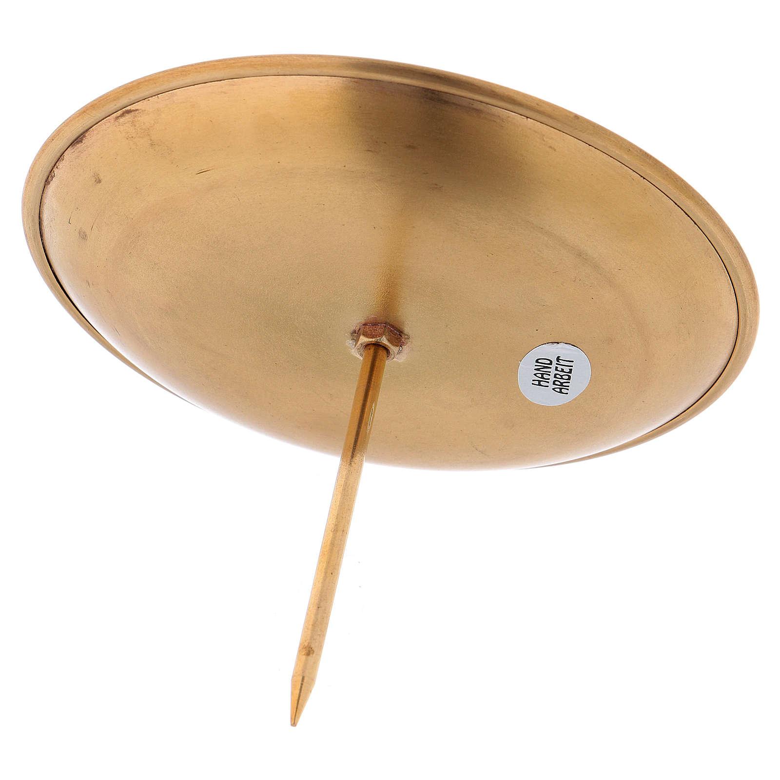 Porte-bougies laiton doré satiné pour couronne avent 3
