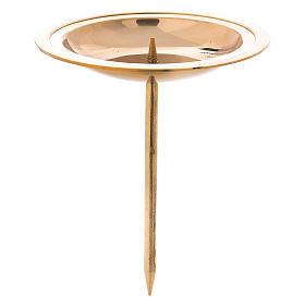 Portacandela per corona avvento 4 pz ottone dorato lucido s1