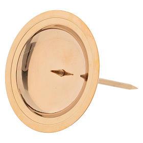 Portacandela per corona avvento 4 pz ottone dorato lucido s2