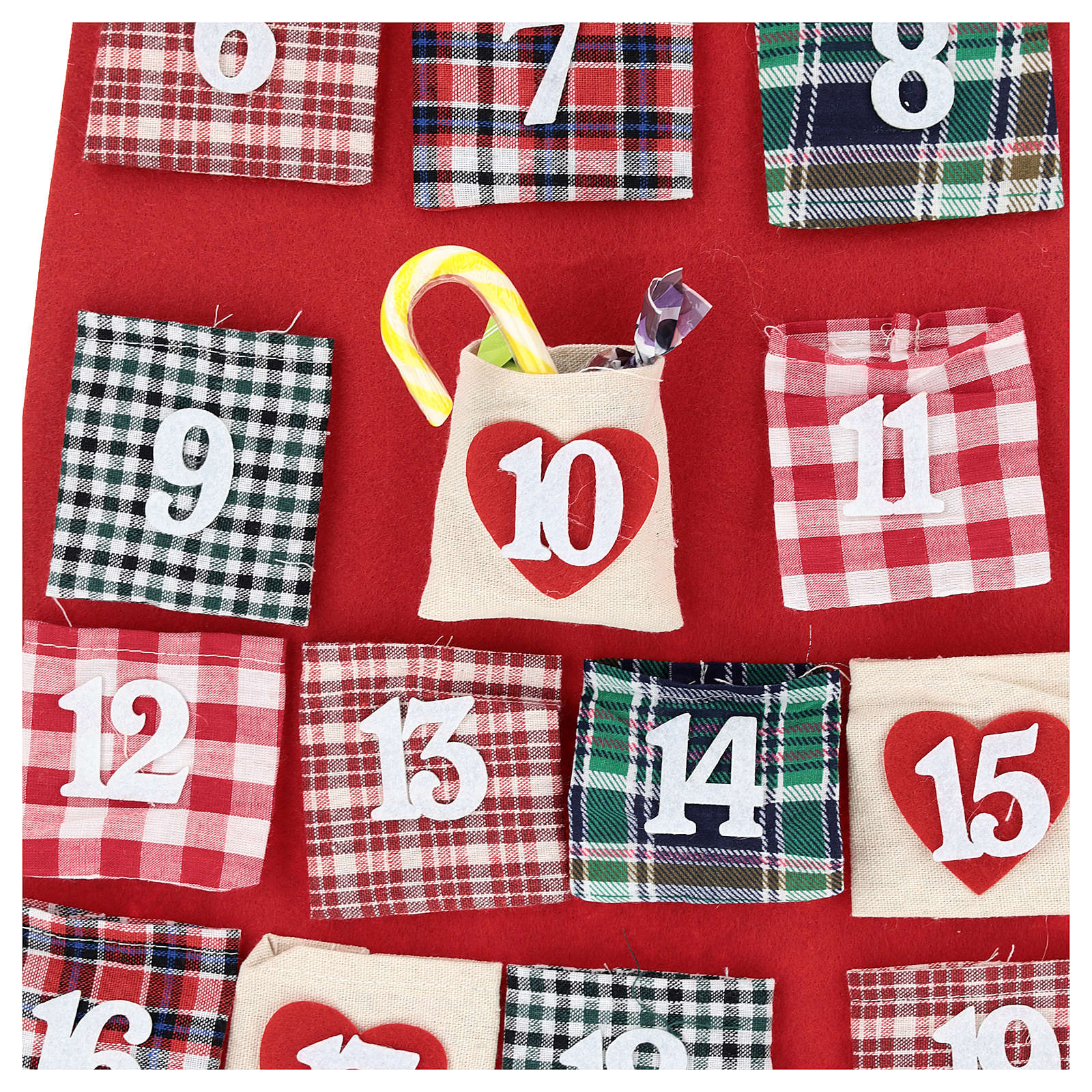 Advent Calendar Santa Claus cloth 120 cm 3