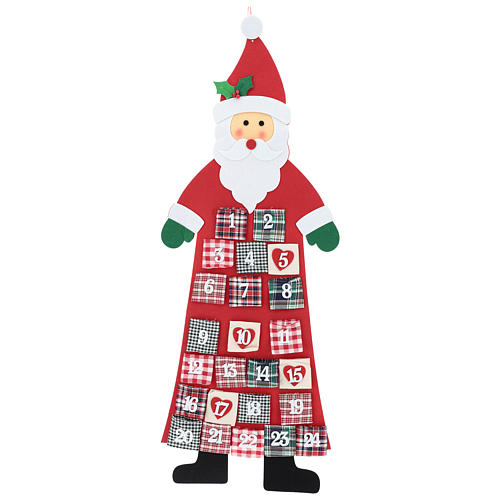 Advent Calendar Santa Claus cloth 120 cm 1
