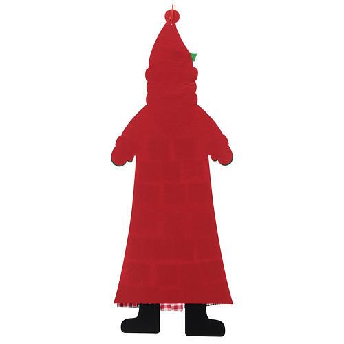Calendario de Adviento Papá Noel de tela 120 cm 3