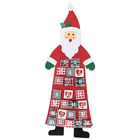 Calendario dell'Avvento Babbo Natale in stoffa 120 cm s1