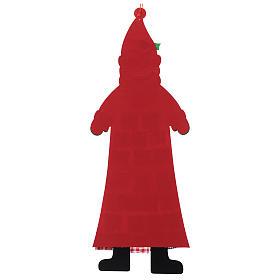 Calendario dell'Avvento Babbo Natale in stoffa 120 cm s3