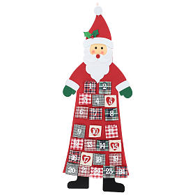 Advento: Calendário de Natal Pai Natal em tecido 120 cm