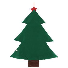 Calendario albero di Natale per Avvento in stoffa h. 90 cm s3