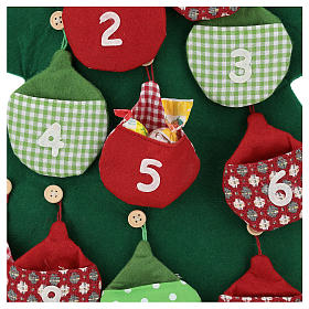 Christmas tree Advent Calendar in fabric h. 90 cm s2