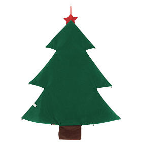 Christmas tree Advent Calendar in fabric h. 90 cm s3