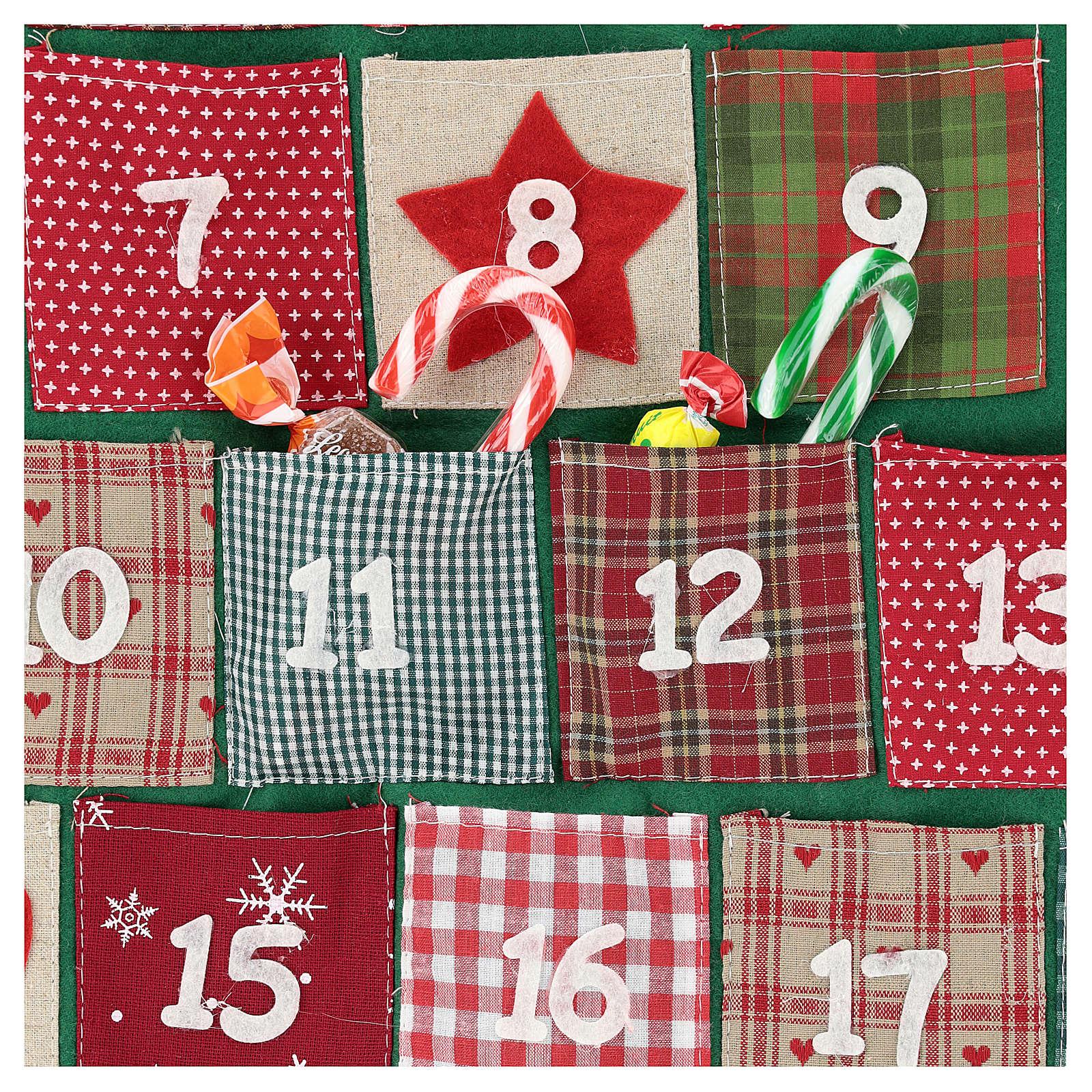 Calendario Adviento en forma de árbol de Navidad h. 90 cm 3