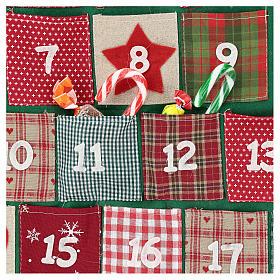 Calendario Avvento a forma di albero di Natale h. 90 cm s2