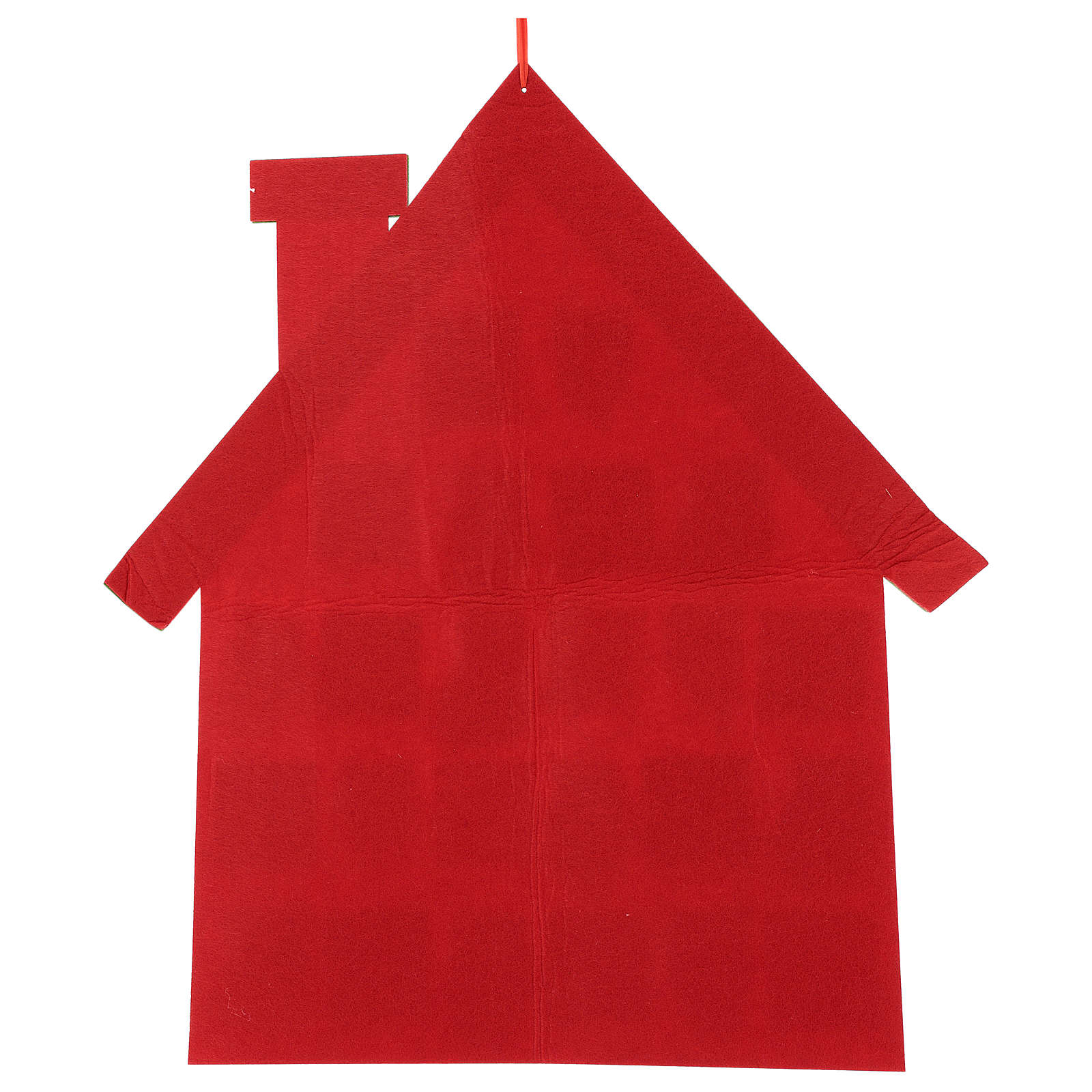 Advent Calendar in cloth in the shape of a cottage, 70 cm 3