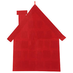Advent Calendar in cloth in the shape of a cottage, 70 cm s3