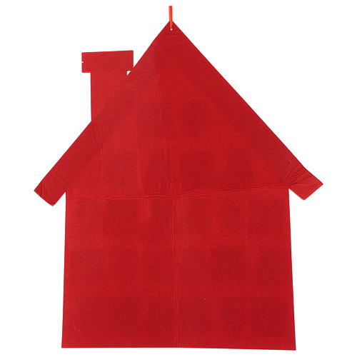 Calendrier Avent en tissu maison 70 cm 3