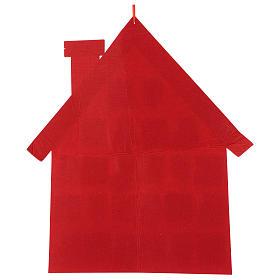 Calendário Natal em tecido casinha 70 cm s3
