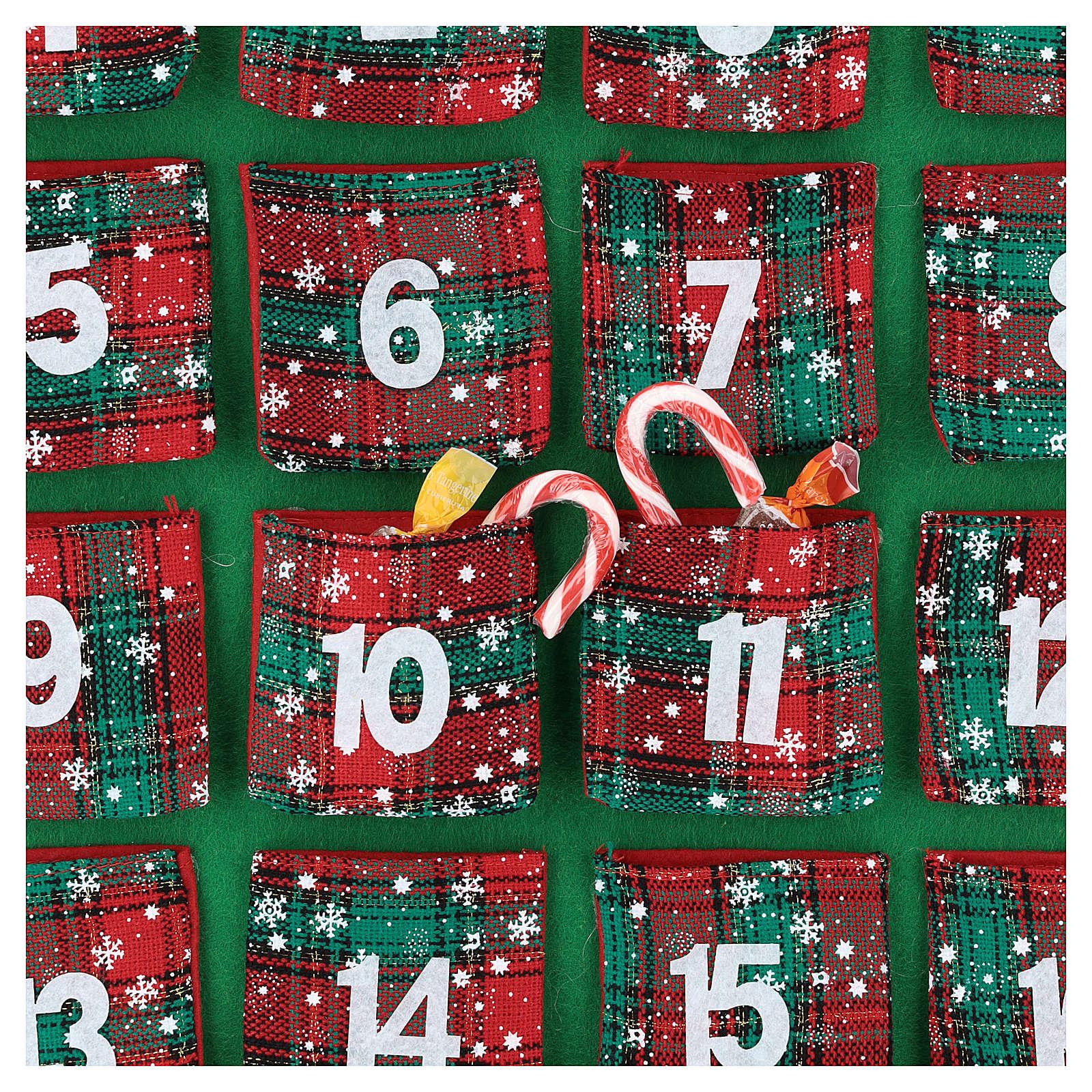 Calendario Avvento 24 tasche casetta 90 cm 3