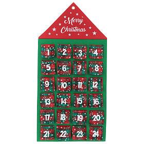 Calendario Avvento 24 tasche casetta 90 cm s1