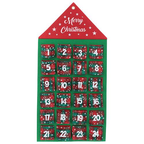 Calendario Avvento 24 tasche casetta 90 cm 1