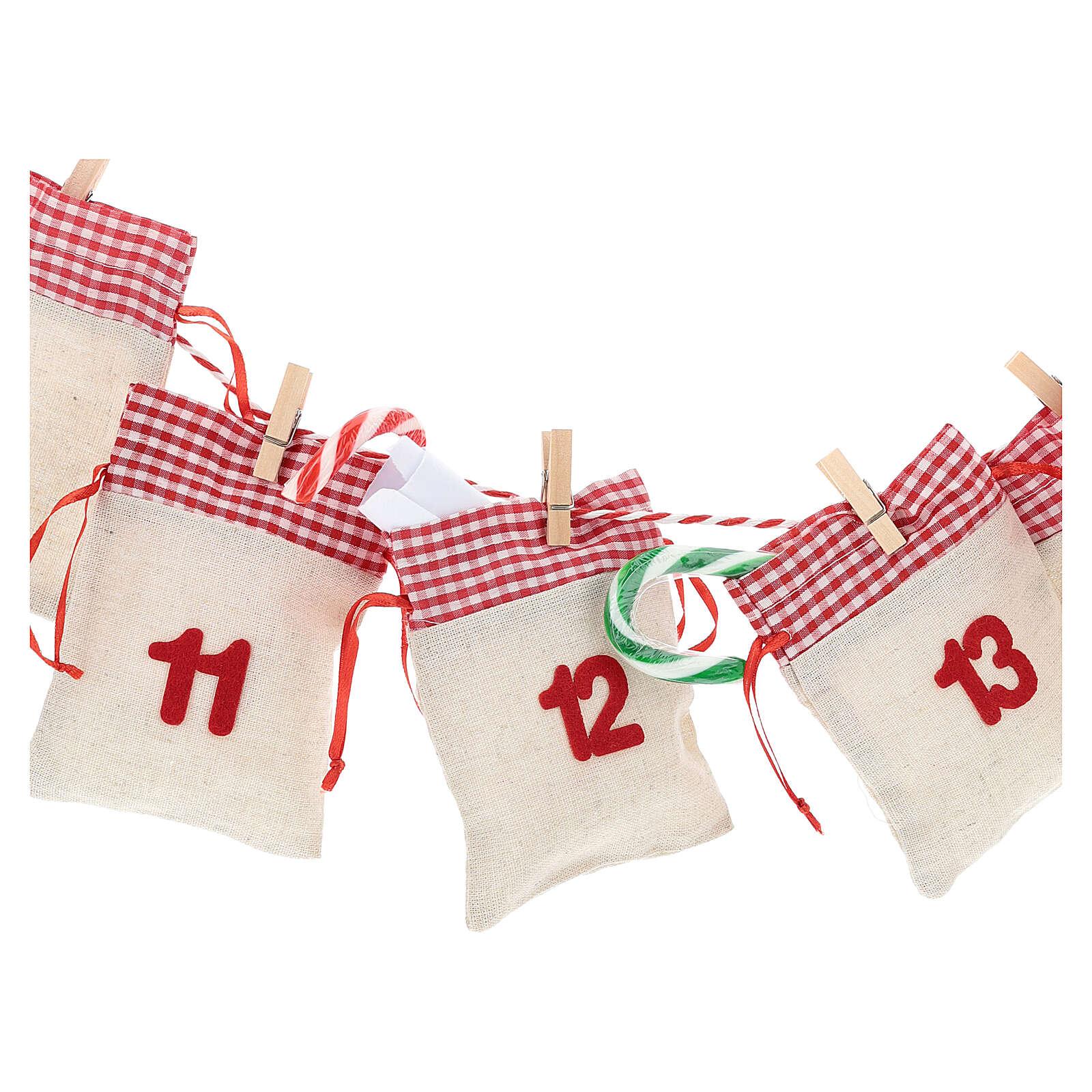 Kalendarz na Adwent z woreczkami 3