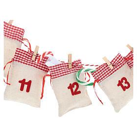 Kalendarz na Adwent z woreczkami s2