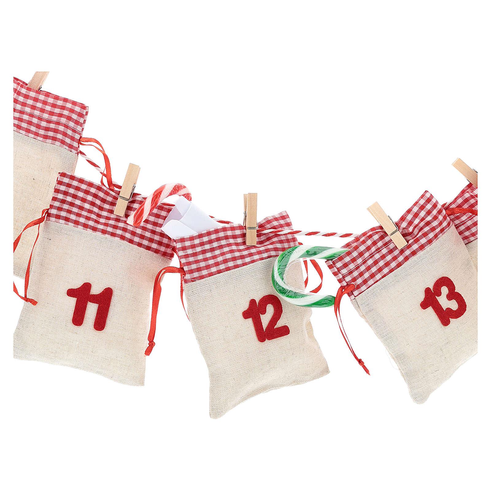 Calendário para o Advento com bolsas 3