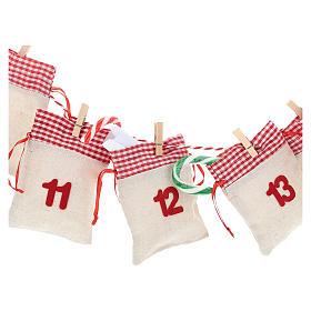 Calendário para o Advento com bolsas s2