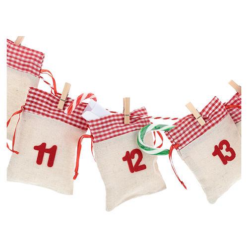 Calendário para o Advento com bolsas 2