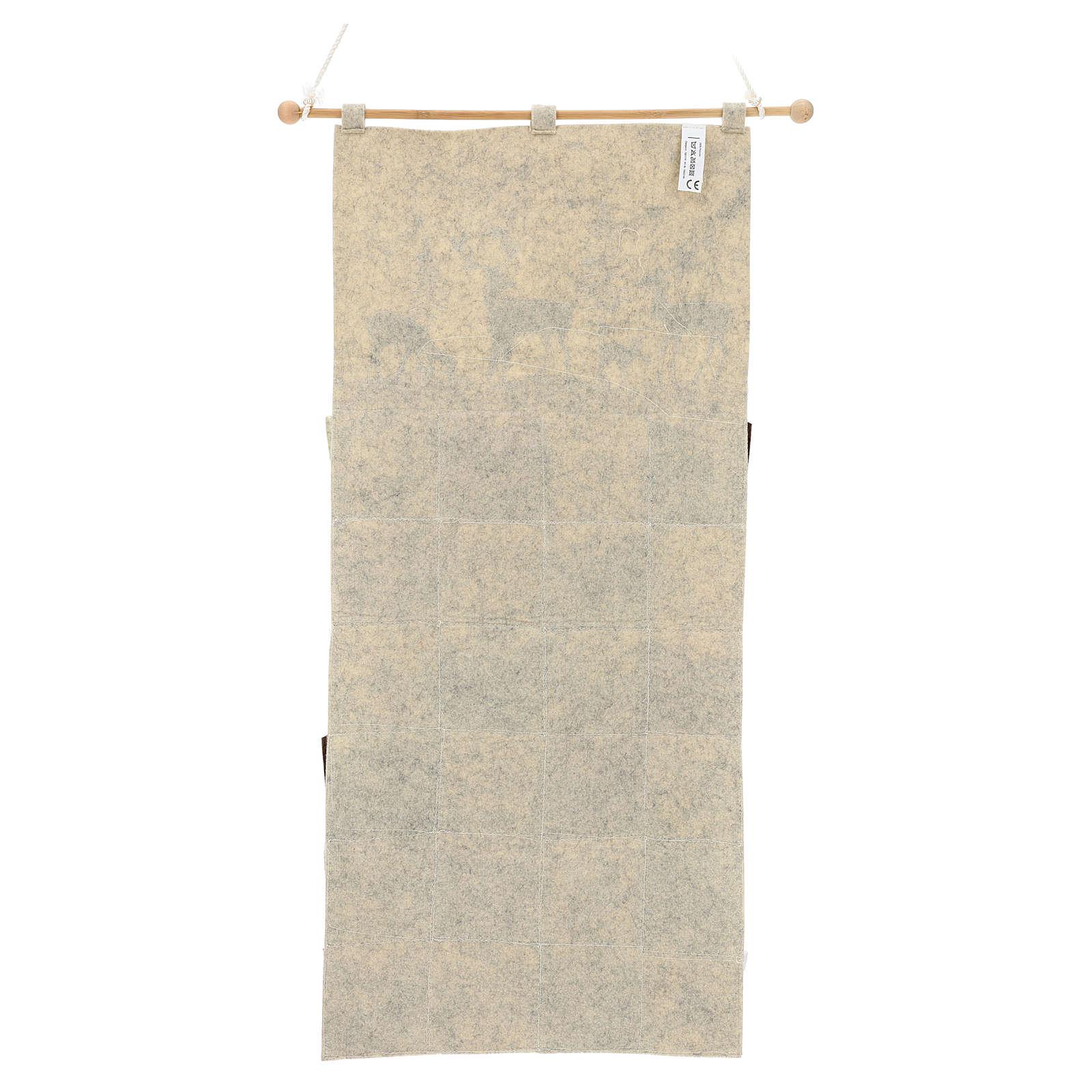 Calendario Avvento in stoffa con cervi 110 cm 3