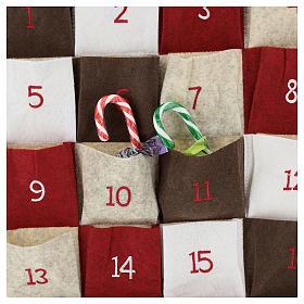 Calendario Avvento in stoffa con cervi 110 cm s2