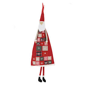 Adviento: Calendario Adviento h. 150 cm Papá Noel