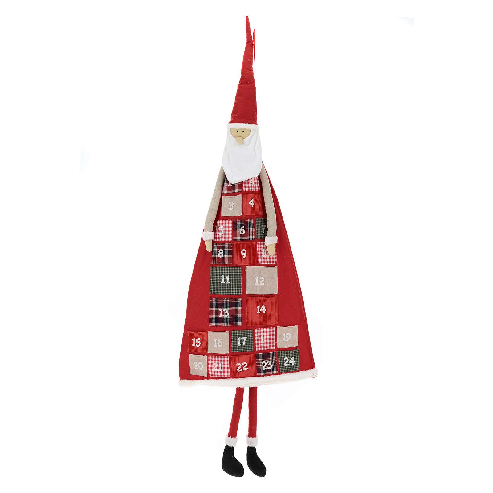 Calendrier Avent h 150 cm Père Noël 3