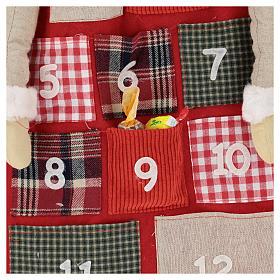 Calendario Avvento h. 150 cm Babbo Natale s2