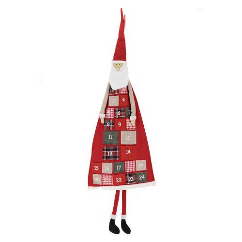Calendario Avvento h. 150 cm Babbo Natale 1
