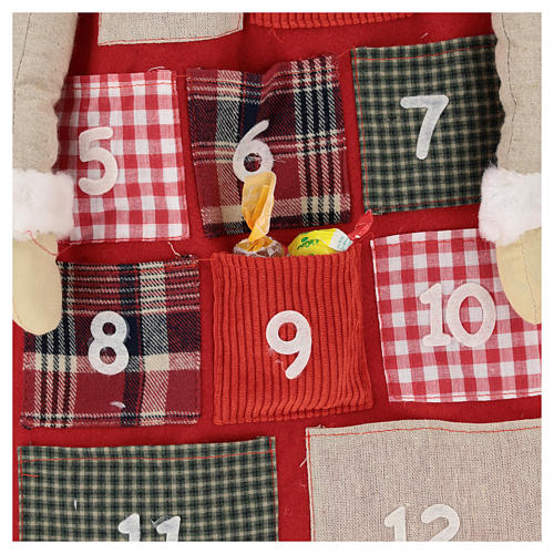Calendario Avvento h. 150 cm Babbo Natale 2