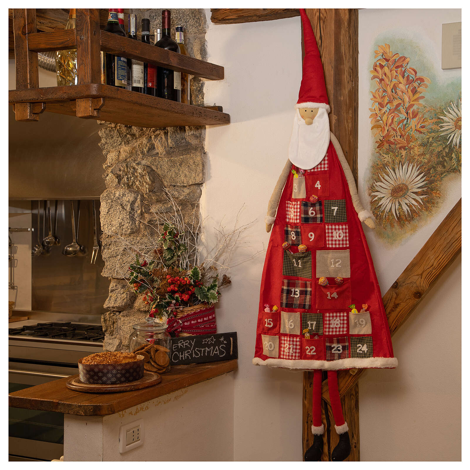 Kalendarz adwentowy h 150 cm Święty Mikołaj 3