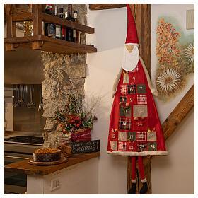 Kalendarz adwentowy h 150 cm Święty Mikołaj s1